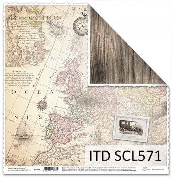 Бумага для скрапбукинга SCL571