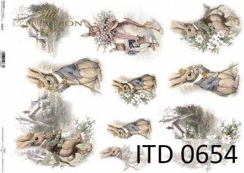 бумага для декупажа классическая D0654