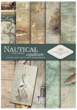Скрапбукинг бумаги SCRAP-048 ''Nautical expedition''