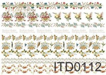 бумага для декупажа классическая D0112
