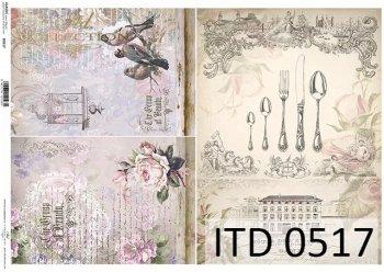 бумага для декупажа классическая D0517