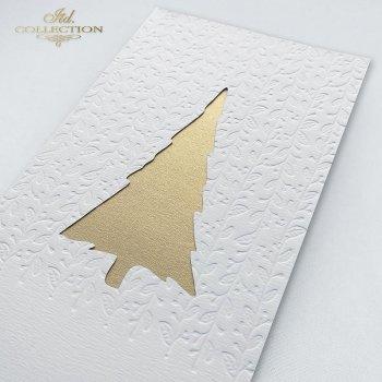 Рождественская и Новогодняя открытка K582z