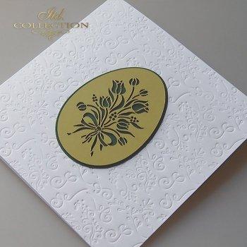 Пасхальная открытка с конвертом KW258