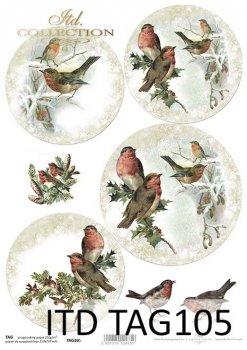 бумага для новогодних и рождественских шаров TAG0105