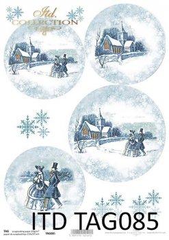 бумага для новогодних и рождественских шаров TAG0085