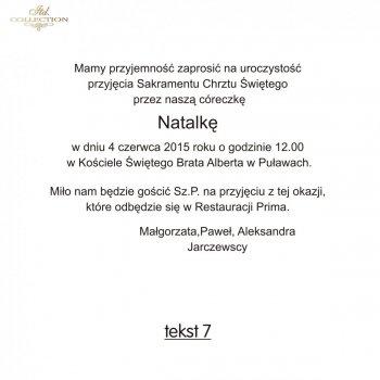 .text pro pozvánky na Křest - TC7