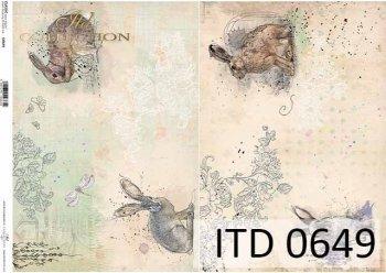бумага для декупажа классическая D0649