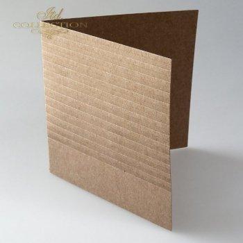 Заготовки для открыток BDK-019 темный бежевый, полоски
