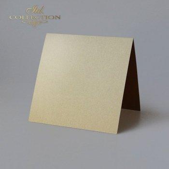 Заготовки для открыток BDK-029 темное золото цвет опалесцирующий