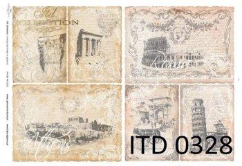 бумага для декупажа классическая D0328