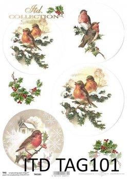 бумага для новогодних и рождественских шаров TAG0101