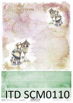Скрапбукинг бумаги SCM0110