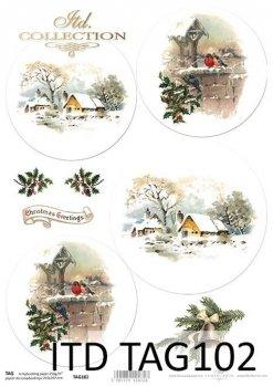 бумага для новогодних и рождественских шаров TAG0102