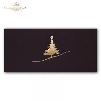 Рождественская и Новогодняя открытка K597