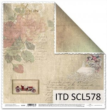 Бумага для скрапбукинга SCL578