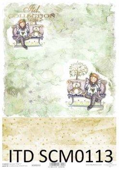 Скрапбукинг бумаги SCM0113