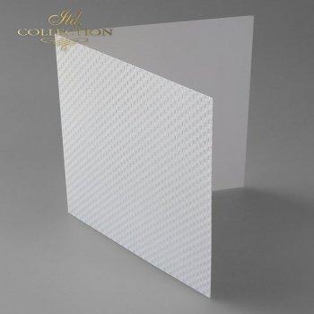 Заготовки для открыток BDK-017 натуральный белый, квадраты