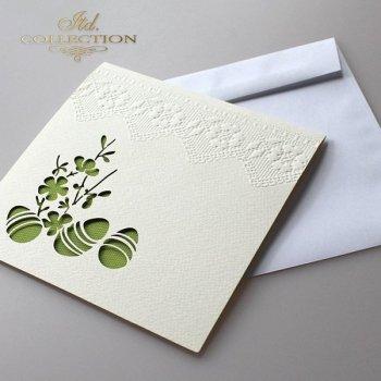 Пасхальная открытка с конвертом KW172