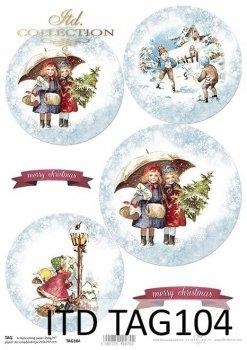 бумага для новогодних и рождественских шаров TAG0104
