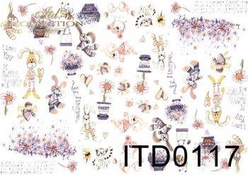 Papier decoupage ITD D0117M