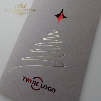 Рождественская и Новогодняя открытка K602