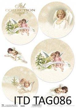 бумага для новогодних и рождественских шаров TAG0086