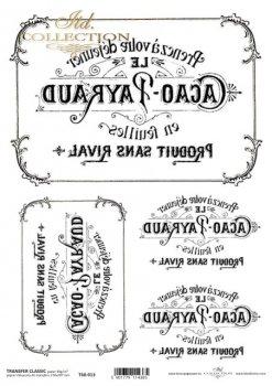 .трансферная бумага для декупажа T6013