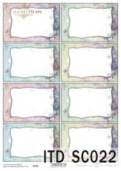 Papier für Scrapbooking SC0022