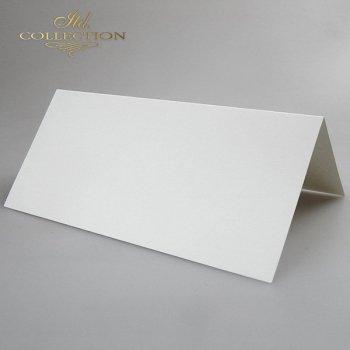 Karte für Scrapbooking BDK-007 * cremefarben, irisierendes Papier