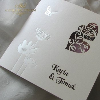 Einladungskarten / Hochzeitskarte 1726_76_Pfingstrose