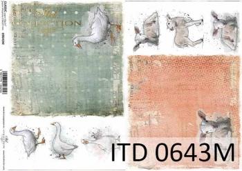 Papier für Serviettentechnik und Decoupage D0643M