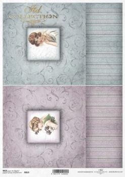 Reispapier für Serviettentechnik und Decoupage R0819