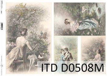 Papier für Serviettentechnik und Decoupage D0508M