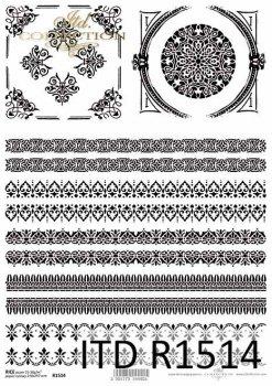 Reispapier für Serviettentechnik und Decoupage R1514