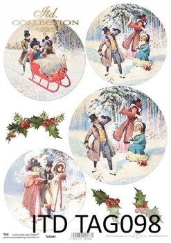 Scrapbooking Papier für Weihnachtskugeln TAG0098