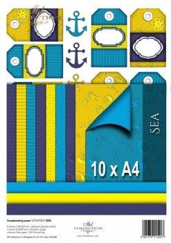 Set von Papieren für Scrapbooking SCRAP-003 ''Sea''