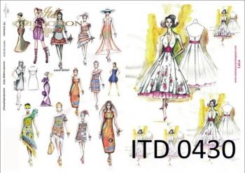 Decoupage paper ITD D0430M