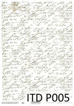 Translucent scrapbooking paper P0005