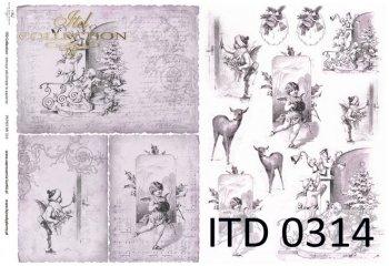 Decoupage paper ITD D0314M