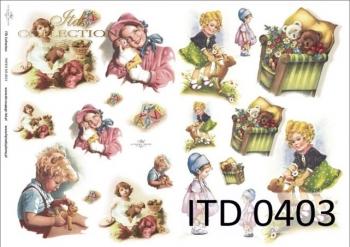 Decoupage paper ITD D0403M