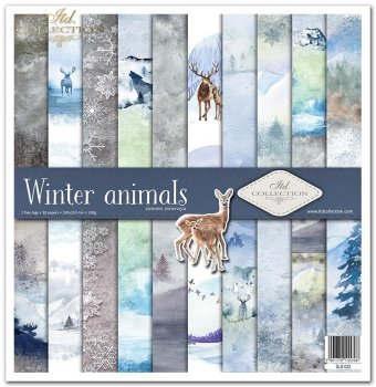 Scrapbooking papers SLS-022 ''Winter animals''