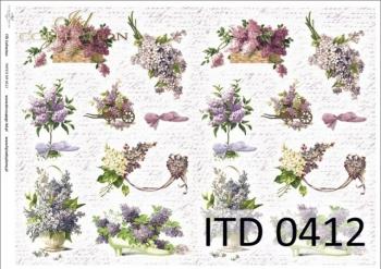 Decoupage paper ITD D0412M