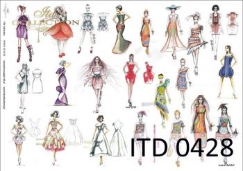 Decoupage paper ITD D0428