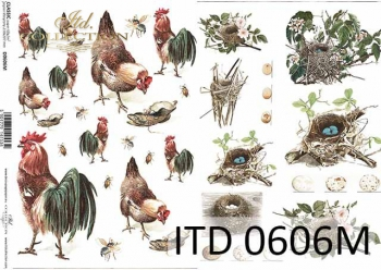 Decoupage paper ITD D0606M