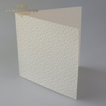 Card Base BDK-020 * Cream color, dots