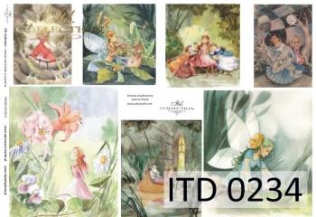Decoupage paper ITD D0234M