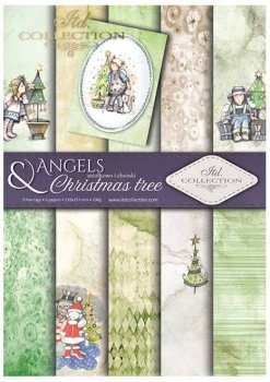 Scrapbooking papers SCRAP-025 ''Angels and Christmas trees''