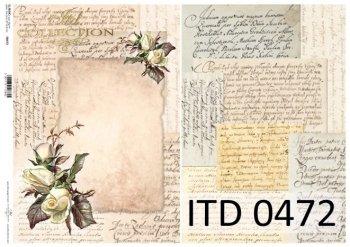 Decoupage paper ITD D0472M