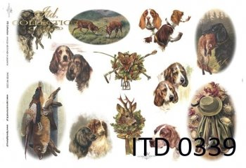 Decoupage paper ITD D0339M