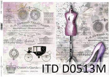 Decoupage paper ITD D0513M